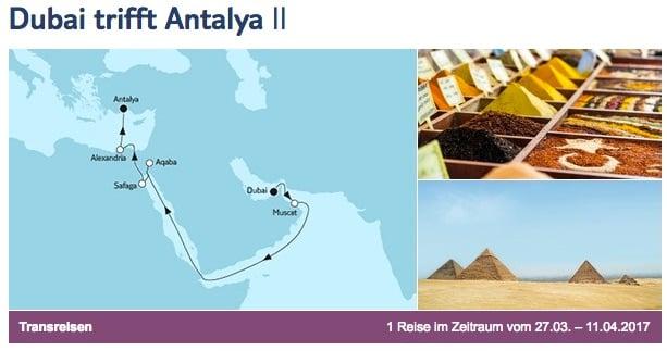 Mein Schiff 3 Dubai trifft Antalya / © TUI Cruises