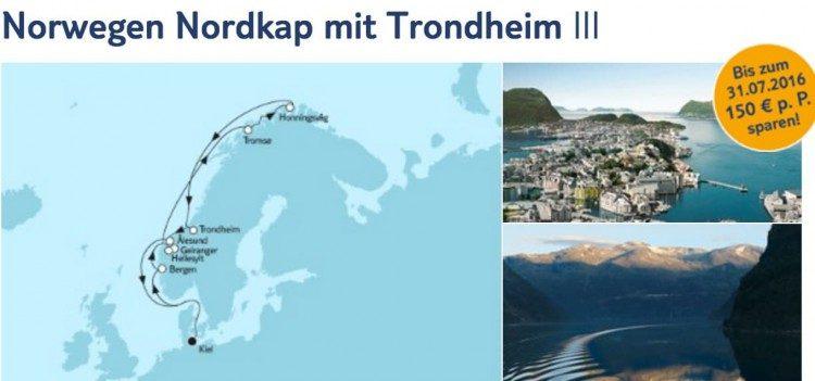 Mein Schiff 3 Norwegen und Nordkap mit Trondheim / © TUI Cruises