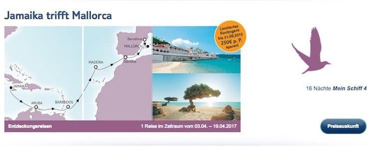 Mein Schiff 4 Jamaika trifft Mallorca / © TUI Cruises