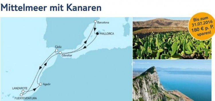 Mein Schiff 4 Mittelmeer mit Kanaren / © TUI Cruises