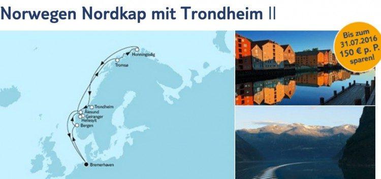 Mein Schiff 4 Norwegen und Nordkap mit Trondheim 2 / © TUI Cruises