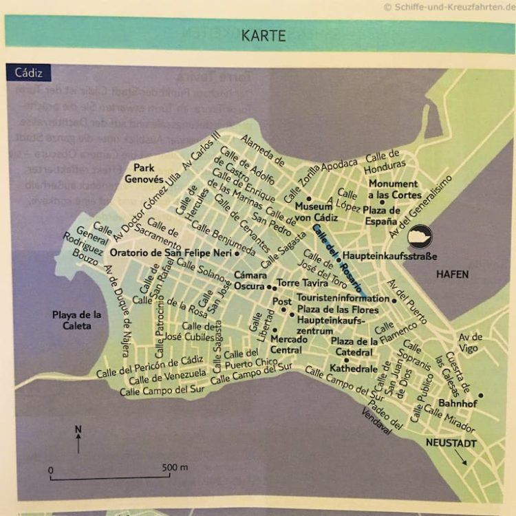 Stadtkarte Cádiz