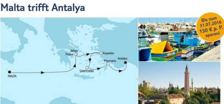 Mein Schiff 5 Malta trifft Antalya / © TUI Cruises
