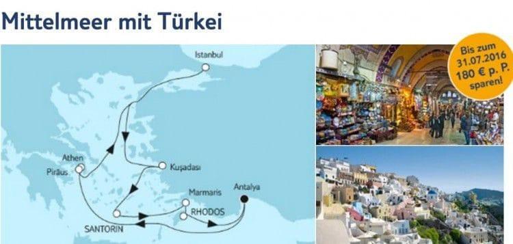 Mein Schiff 5 Mittelmeer mit Türkei / © TUI Cruises