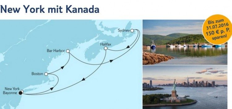 Mein Schiff 6 New York mit Kanada / © TUI Cruises