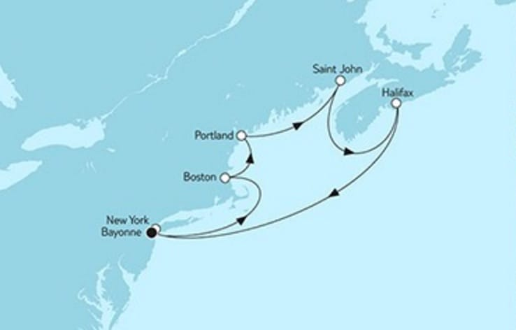 Mein Schiff 6 New York mit Kanada 2018 © TUI Cruises