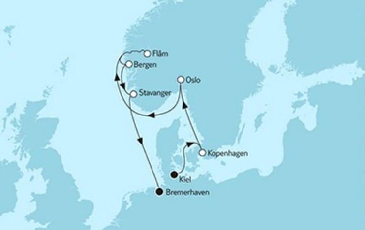 Neue Mein Schiff 1 Südnorwegen mit Flam © TUI Cruises