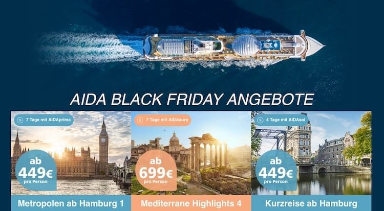 AIDA Black Friday Schnäppchen / © AIDA Cruises