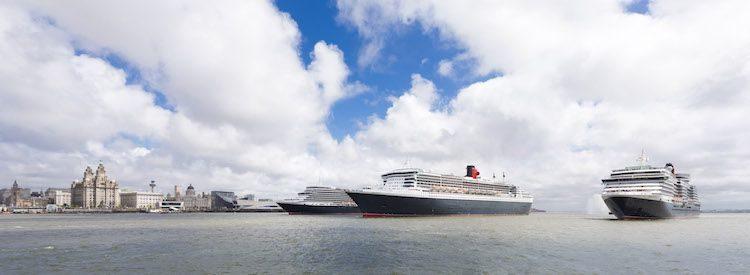 Weltreisen mit den drei Cunard Queens ©Cunard Line