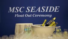 MSC Seaside Aufschwimmen bei Fincantieri (Bilder & Video)