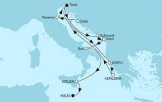 Mein Schiff 2 Adria & Triest trifft Valletta © TUI Cruises