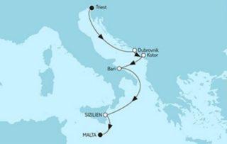 Mein Schiff 2 Triest trifft Valletta mit Sizilien © TUI Cruises