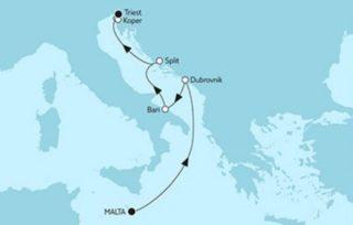 Mein Schiff 2 Valletta trifft Triest mit Dubrovnik © TUI Cruises
