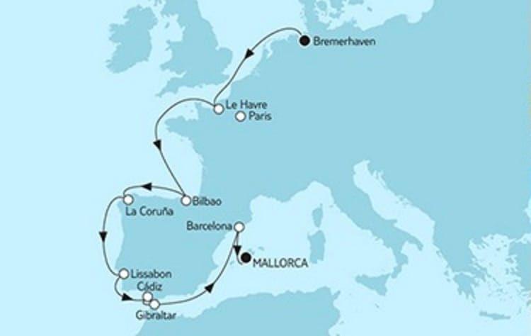 Mein Schiff 3 Bremerhaven trifft Mallorca 2 © TUI Cruises