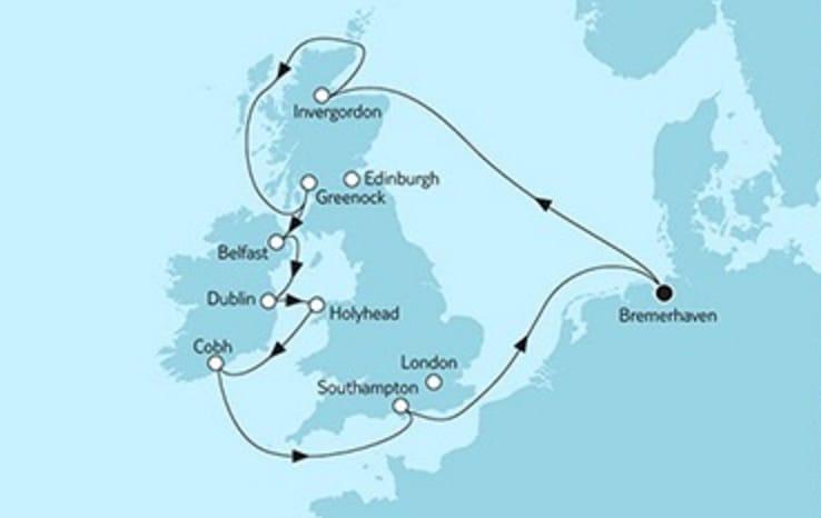 Mein Schiff 3 Großbritannien mit Irland 1