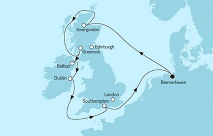 Mein Schiff 3 Großbritannien mit Irland 3 © TUI Cruises
