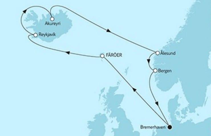 Kreuzfahrten  Angebote Island