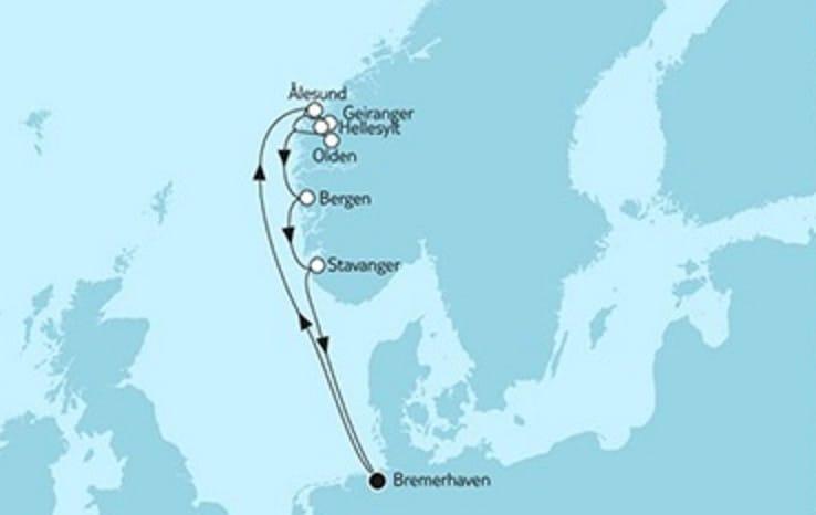 Mein Schiff 3 Südnorwegen mit Olden © TUI Cruises