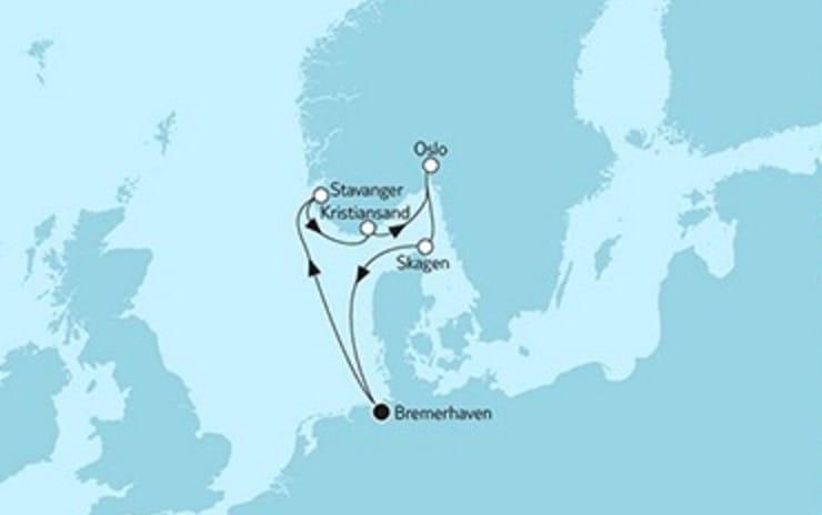 Mein Schiff 3 Südnorwegen mit Oslo © TUI Cruises