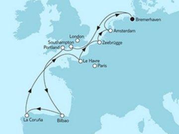 Mein Schiff 3 Westeuropa mit Bilbao © TUI Cruises