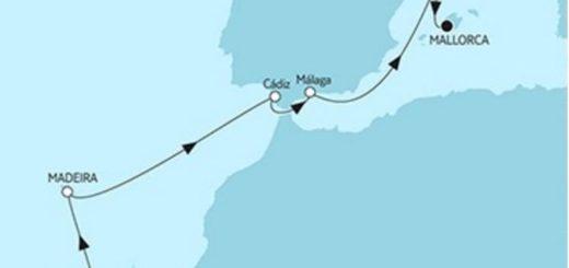 Mein Schiff 4 Gran Canaria trifft Mallorca © TUI Cruises