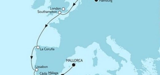 Mein Schiff 4 Hamburg trifft Mallorca © TUI Cruises