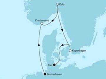 Mein Schiff 4 Kurzreise Kristiansand & Oslo © TUI Cruises