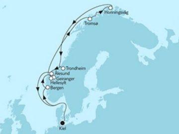 Mein Schiff 4 Norwegen Nordkap 1 © TUI Cruises
