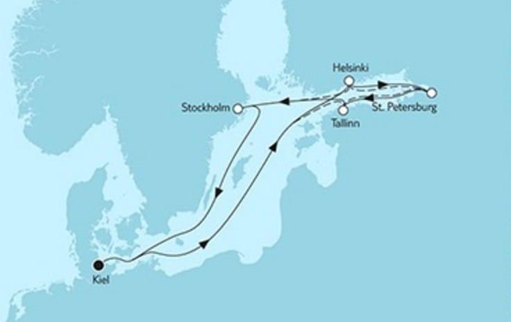 Mein Schiff 4 Ostsee Baltikum mit Helsinki © TUI Cruises
