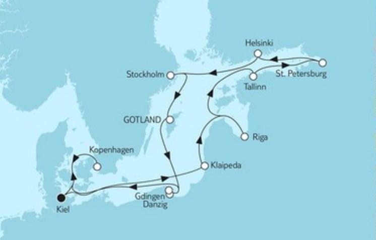 Mein Schiff 4 Ostsee Baltikum mit Riga © TUI Cruises