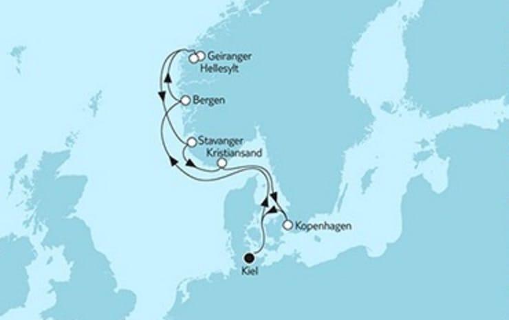 Mein Schiff 4 Südnorwegen mit Kopenhagen © TUI Cruises