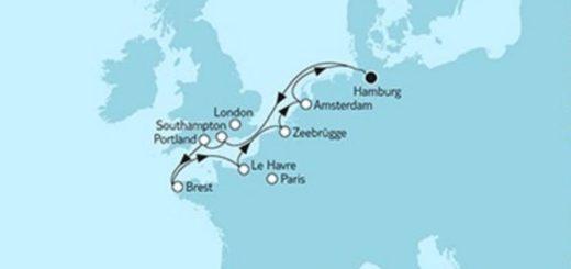 Mein Schiff 4 Westeuropa mit Brest © TUI Cruises
