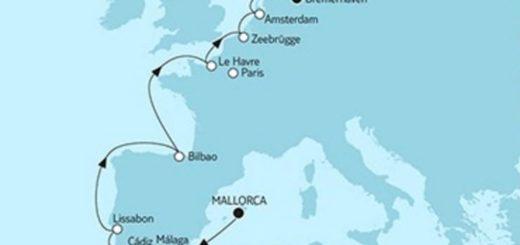 Mein Schiff 5 Mallorca trifft Bremerhaven 3 © TUI Cruises