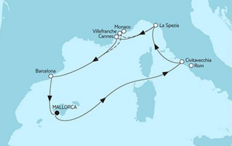 Mein Schiff 5 Mittelmeer mit Barcelona © TUI Cruises
