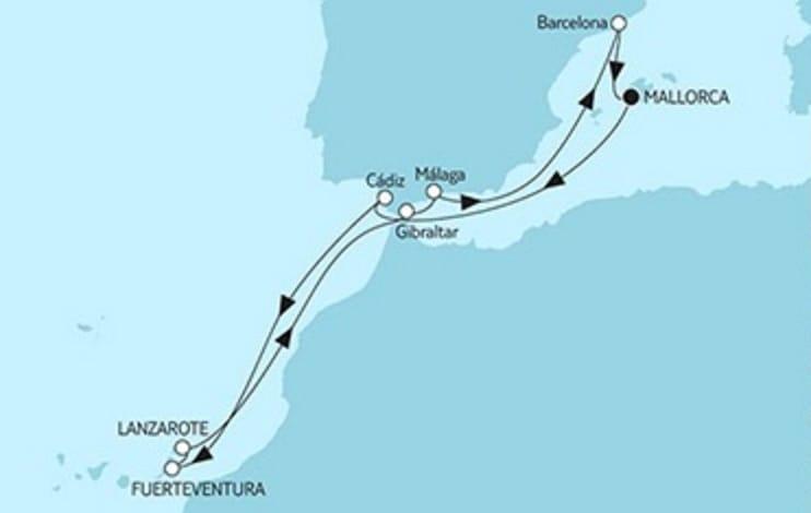 Mein Schiff 5 Mittelmeer mit Kanaren © TUI Cruises