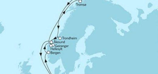 Mein Schiff 5 Norwegen Nordkap 2 © TUI Cruises