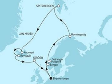 Mein Schiff 5 Norwegen Spitzbergen & Island © TUI Cruises