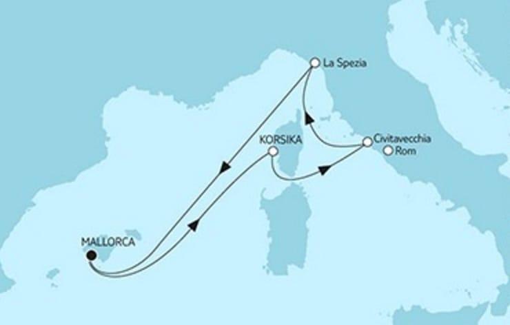 Mein Schiff 6 Kurzreise Mittelmeer © TUI Cruises