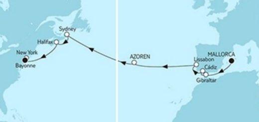 Mein Schiff 6 Mallorca trifft New York © TUI Cruises