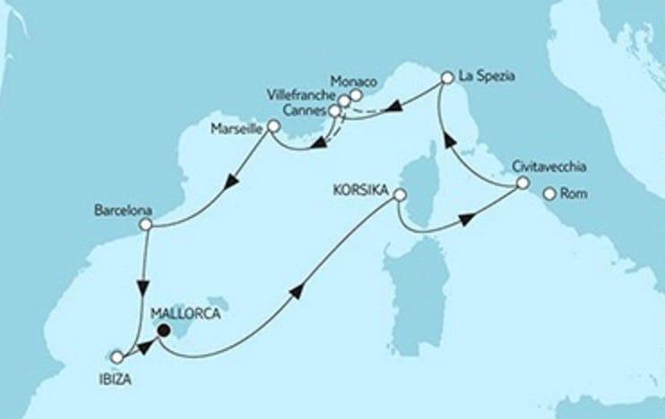 Mein Schiff 6 Mittelmeer mit Ibiza © TUI Cruises