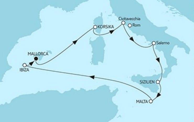 Mein Schiff 6 Mittelmeer mit Salerno © TUI Cruises