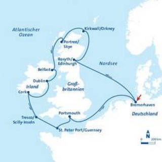MS Berlin Großbritannien Kreuzfahrt ©FTI Cruises