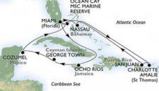 MSC Seaside  Karibik-Kreuzfahrten inkl. Flug & Bordguthaben