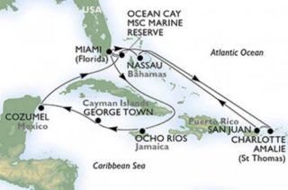 MSC Seaside 14 Tage Karibik Kreuzfahrt © MSC Kreuzfahrten