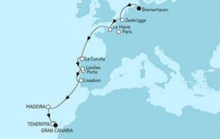 Neue Mein Schiff 1 Bremerhaven trifft Gran Canaria © TUI Cruises