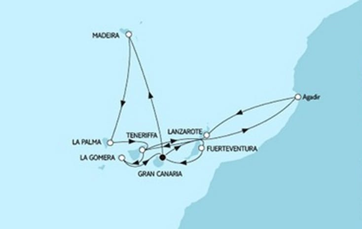 Neue Mein Schiff 1 Kanaren mit Madeira & Marokko © TUI Cruises