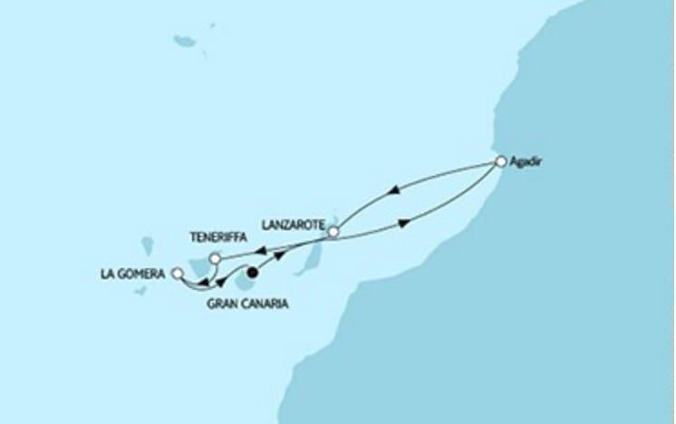 Neue Mein Schiff 1 Kanaren mit Marokko © TUI Cruises