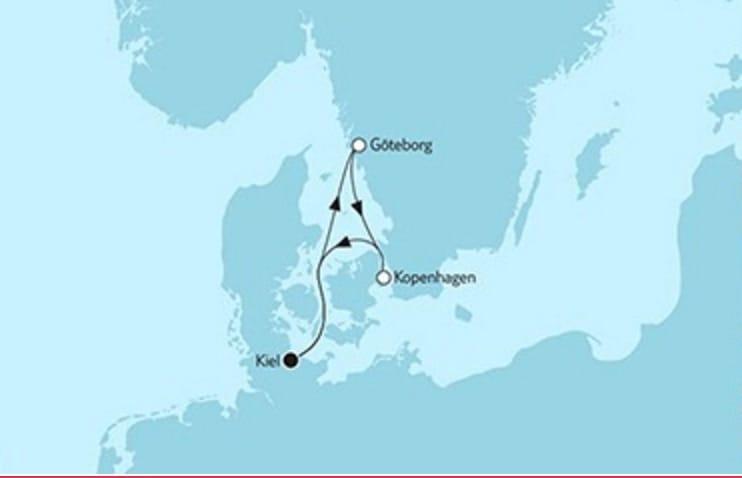 Neue Mein Schiff 1 Kurzreise Göteborg & Kopenhagen © TUI Cruises