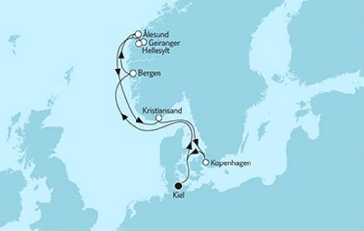 Neue Mein Schiff 1 Südnorwegen mit Alesund © TUI Cruises