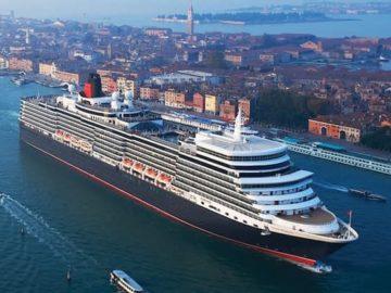 Queen Elizabeth startet ab Hamburg auf Weltreise ©Cunard Line